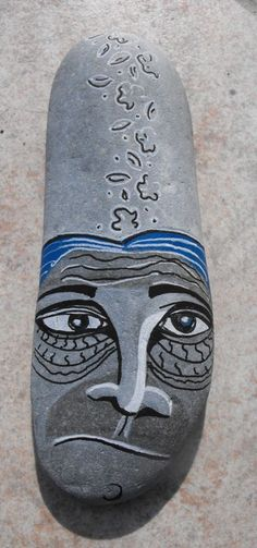 Galets peint - face - painted stone