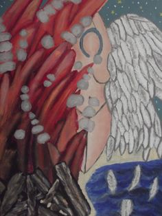 """Acrylic Painting entitled, """"The Vision"""", designed and painted by Red Fairy"""