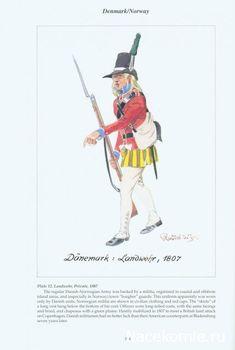 Danemark Landwehr 1807 Military Art, Military History, Military Uniforms, Norwegian Army, Kingdom Of Denmark, Battle Of Waterloo, North Europe, Figure Reference, Holland