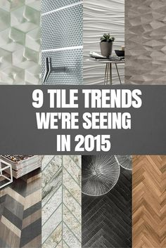 Top 10 Tile Trends.ALONG THE RIGHT LINES - L-R Mutina Rombini, Naxos ...