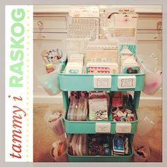 The BEST Ikea Craft Rooms Organizing Ideas - this RASKOG cart from Ikea is a perfect example of how to use RASKOG for crafts - Project Life. See more in this post by craft expert Jennifer Priest.