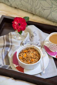 Healthy Sweet Potato Casserole for breakfast @DessertForTwo