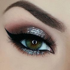 Glitter Eye Makeup Makeup - Glitter eye makeup _ glitzer augen make-up _ maquillage des yeux scintillant _ maq - Prom Eye Makeup, Eyeshadow Makeup, Hair Makeup, Eyeshadows, Wedding Makeup, Pageant Makeup, Wedding Nails, Eyeshadow Palette, Eye Makeup