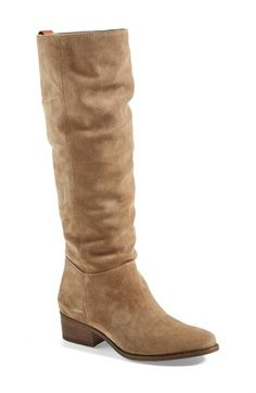 Steve Madden 'Pondrosa' Suede Boot (Women) available at Nordstrom. Nude Boots, Heeled Boots, Nordstrom Boots, Black Cowgirl, Madden Boots, Boating Outfit, Knee High Boots, Leather Boots, Suede Leather