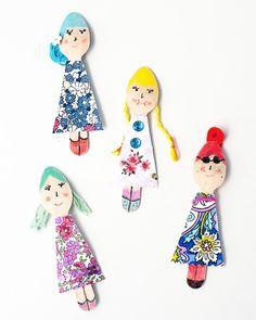 Shake My Blog | Des petites poupées DIY avec des cuillères en bois