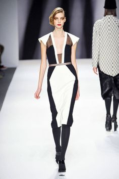 Fall 2013 Trends Black White Runway - Black and White Looks on the Runway - ELLE