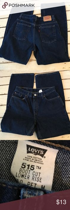 515 Levi Jean Excellent condition boot cut 29 inseam petite dark denim Levi's Jeans Boot Cut