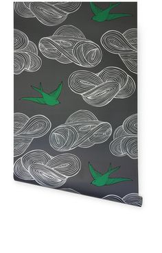 Daydream in Grey Wallpaper by Julia Rothman at  Hygge & West