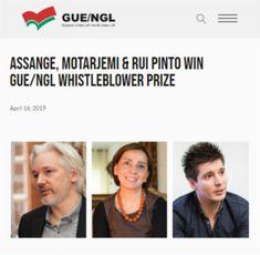 2019 Apr 16: Assange shares GUE/NGL whistleblower, journalist prize