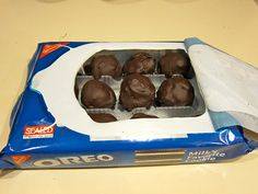 Oreo Truffles —Surprise unsuspecting friends by hiding the truffles in the original Oreo packaging!