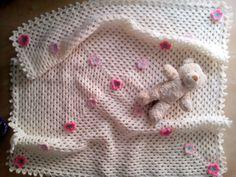 copertina all'uncinetto per bambina in lana : Puericultura di ilfilodimari