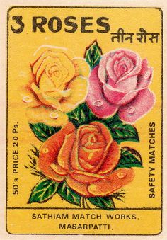 Vintage Labels, Vintage Ephemera, Vintage Postcards, Rose Illustration, Botanical Illustration, Vintage Tattoo Art, Indian Aesthetic, Fireworks Art, Postage Stamp Art