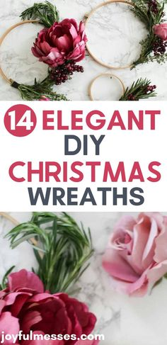 It's beginning to look a lot like Christmas! Do you love to create your own Holiday decorations? If so, what better way to start your Holiday season than with a DIY Christmas Wreath! Here are 14 jaw-droppingly elegant Christmas wreaths you can make. They are inexpensive and easy too! #christmaswreath #diychristmaswreath #diychristmasdecor #christmasdecor #holidaydecor #holidayseason #holidayhome Elegant Christmas, Diy Christmas, Holiday Wreaths, Holiday Decorations, Love Fest, White Wreath, Welcome Wreath, Finding Joy, I Fall In Love