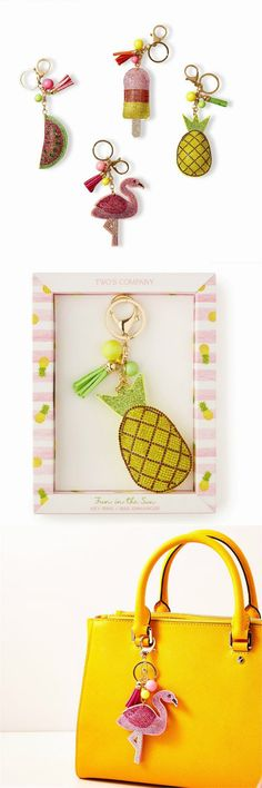 Our Palm Beach Fun in the Sun Rhinestone Bag Enhancer / Key chain comes beautifully packaged in a clear front gift box. Stylish and fun! Pick up one for a friend and one for you from www.nobleniches.com #keychain #keyring #bagenhancer #handbag #pocketbook #bagcharm #pineapple #flamingo #popsicle #watermelon #mothersday #mothersdaygift #summer #summertime #nobleniches #charlotteboutique #charlottegiftshop #matthews #cltshopping #sardismarketplace
