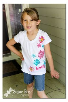 DIY Personalized Heat Transfer T-shirt using your Silhouette ~ Sugar Bee Crafts