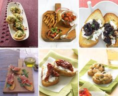 "Crostini bar — just saying ""crostini"" makes me giddy. Cute, tiny apps."
