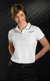 Promotional Products Ideas That Work: LADIES SWOOSH POLO. Get yours at www.luscangroup.com
