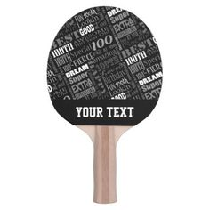 Special 100th Birthday Party Personalized Monogram Ping-Pong Paddle - photo gifts cyo photos personalize