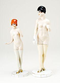 Vintage Deco Porcelain Figures