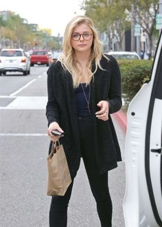 Chloe Moretz Leaves the nail salon in Beverly Hills