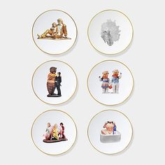 Jeff Koons: Banality Bread and Butter Plate Set