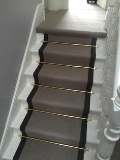 Carpet stair runners ideas stair runner rod stair rod best carpet stair runners ideas on hallway rod iron stair railing staircase carpet runners ideas Grey Carpet, Hallway Decorating, Stair Runner Carpet, Victorian Hallway, Staircase Design, Painted Stairs, Best Carpet, Stairs, Best Carpet For Stairs