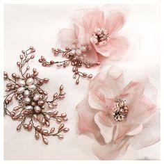 Pretty in pink, good enough to eat. Exquisite rose gold and dusky pink accessories created and designed Pink Accessories, Wedding Hair Accessories, Destination Wedding, Wedding Day, Rose Gold Hair, Pretty Pastel, Bridal Boutique, Designer Wedding Dresses, Wedding Hairstyles