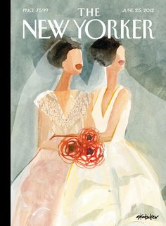 """June Brides,"" the cover of the June 25, 2012 issue. Click-through for the artist's story, and for more wedding covers: http://nyr.kr/OSX5mh"