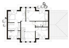 Projekt domu prefabrykowanego w podwarszawskim Konstancinie Floor Plans, Floor Plan Drawing
