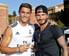 Cristiano Ronaldo & David Beckham :) Two of my favorite people in one pic:)