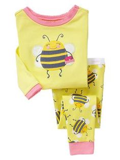 Gap Toddler Bumble Bee Sleep Set in New Pale Lemon