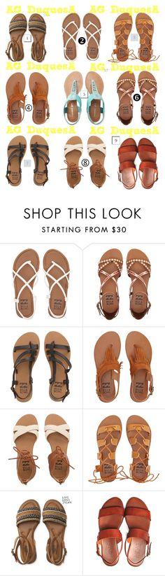 """""""Cuál es tu modelo favorito a la hora de usar estas cómodas sandalias"""" by iamastrea on Polyvore featuring moda, Billabong, Aéropostale y ElDiarioDeASTREA"""