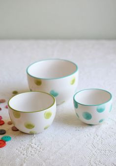Spotted Dots Trio Bowl Set 24.99 At Shopruche.com. These Classic White  Ceramic Bowls