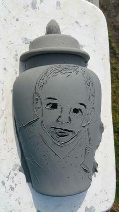 #wallvases #babyinclay #clayart #portraitinclay