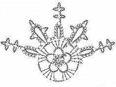 Szydełkomania: Crochet snowflake chart pattern
