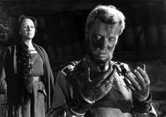 Max Von Sydow & Birgitta Valberg (The Virgin Spring Ingmar Bergman. Bergman Film, Ingmar Bergman, Age Of Adolescence, Max Von Sydow, Ang Lee, Pagan Gods, Film Academy, Innocent Child, Movie List