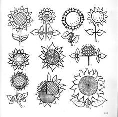 Sunflowers patterns - Книга с большим количеством шаблонов узоров.. Обсуждение на LiveInternet - Российский Сервис Онлайн-Дневников