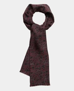 The Kooples : Camo jacquard fringed scarf