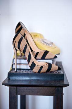"""Emmy DE * Christian Louboutin Zebra 5"""" heels"""