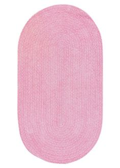 Capel Rugs Rose Garden Pink Braided Chenille Rug CA0660545