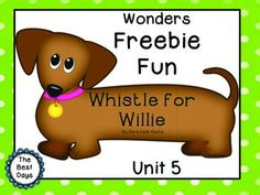 Wonders Unit 5 Freebie Fun: Whistle for WillieThis fun Whistle for Willie product allows the students to practice Problem/Steps to the Solution/Solution in a fun wiener dog shape just like Willie! If printed on cardstock, Willie will even stand on his o Letter W Activities, Dr Seuss Activities, Free Activities, Writing Activities, Whistle For Willie, Journeys Reading Series, First Grade Freebies, Ezra Jack Keats, Reading Wonders
