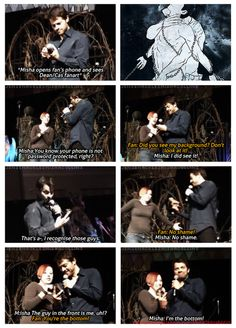 Misha is just accepting it. That's how you deal with these things. Accept them and move on. Move on QUICKLY, but move on. XD