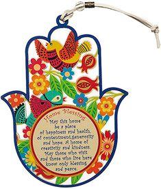 Amazon.com: Decoración de pared de mano de Hamsa multicolor con diseño de pájaros y flores, amuleto de buena suerte para el hogar/negocios, bendición del hogar inglés: Home & Kitchen Hamsa Hand, Blessed, Peace, Creative, Unique Gifts, House Blessing, Peace Dove, Sobriety, World
