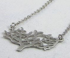 Matte Silver Tree of Life Necklace by jennyekberg on Etsy, $34.00