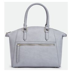 Justfab Satchels Danu (€38) ❤ liked on Polyvore featuring bags, handbags, grey, satchel purses, grey purse, gray satchel, satchel handbags and justfab