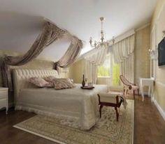 Спальня в мансарде для молодоженов
