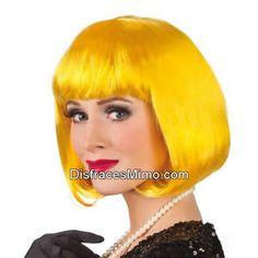 Tu mejor peluca cabaret amarilla pr 8589500 para cualquier fiesta cabaret 3ca7b5c0620