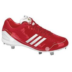 SALE - Mens Adidas AdiZero Diamond King Baseball Cleats Red Mesh - Was $99.99 - SAVE $75.00. BUY Now - ONLY $24.98