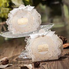 Frete grátis 10 pcs corte a Laser caixas do Favor do Casamento caixa de doces de Casamento Casamento favores do Casamento e presentes de eventos & festas