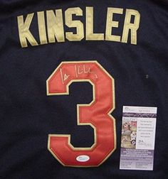 Ian Kinsler Detroit Tigers Autographed 2014 All Star #3 Jersey Size 52 JSA COA - Detroit Sports Outlet